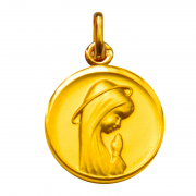 medaille bapteme vierge compatissante or