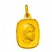 medaille bapteme vierge aux apparitions or