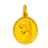 medaille bapteme vierge amour or