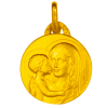 medaille bapteme vierge mere or