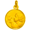 medaille bapteme ange colombe or jaune