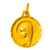 medaille bapteme vierge presente or