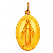medaille miraculeuse notre dame rue du bac or 9 carats