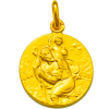 medaille bapteme saint christophe conducteur or