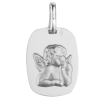 medaille bapteme seraphin rectangle argent