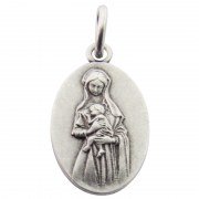medaille bapteme vierge marie attendrie argent