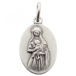 Médaille Vierge Marie attendrie (argent)