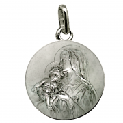 medaille bapteme vierge admirable argent