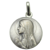 medaille bapteme ave maria argent