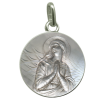 medaille bapteme ave maria buste argent