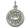medaille bapteme colombe lauriers argent