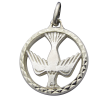 pendentif bapteme colombe medaillon argent