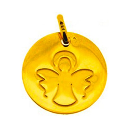 Médaille Ange contemporain (or jaune)