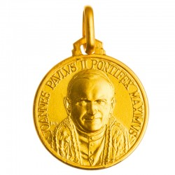 Médaille Saint Jean Paul II (or jaune)